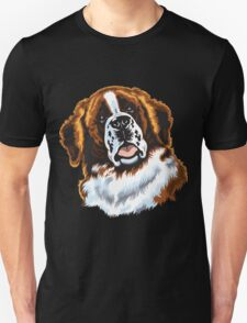 saint bernard head Unisex T-Shirt