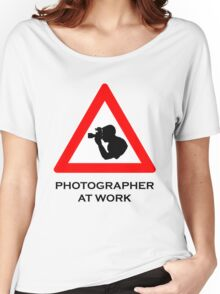 Photographer at Work Women's Relaxed Fit T-Shirt