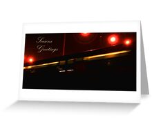 Night Train - Footscray - Melbourne - Vic - Australia Greeting Card