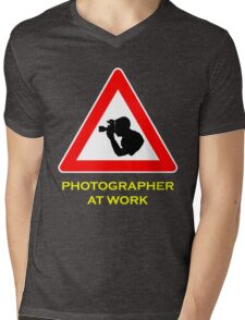 Photographer at Work Mens V-Neck T-Shirt