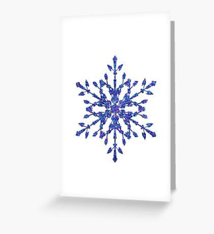 Frozen Snowflake Greeting Card