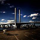 Under the bridge by Jeff Davies