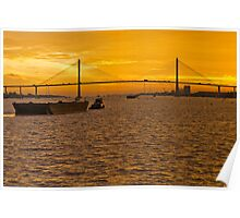 Mekong Delta Sunset 2 Poster