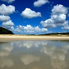 Reflected Clouds at Spirits Bay, New Zealand by Victoria Ashman