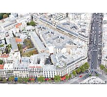 Streets of Paris from the Eiffel Tower by mhofer