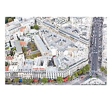 Streets of Paris from the Eiffel Tower Photographic Print