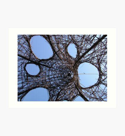 Wicker Sculpture Art Print