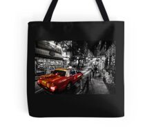 Hong Kong Red Taxi  Tote Bag