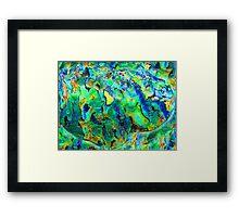 Timaru Paua Dream redux Framed Print