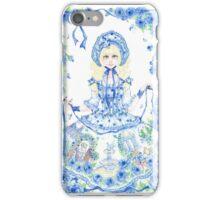 Blooming Garden Watercolor Painting iPhone Case/Skin