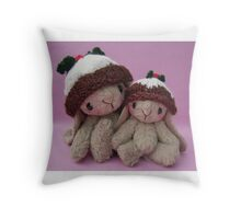 Biddy and Babble, Handmade bears from Teddy Bear Orphans Throw Pillow