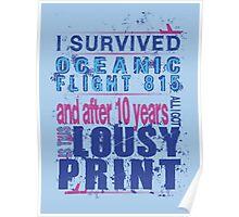 I survived Flight 815 Poster