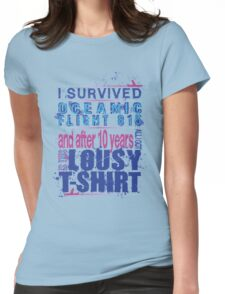 I survived Flight 815 Womens Fitted T-Shirt