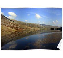 Reflections at Conway, North Wales Poster