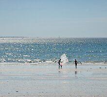 Windsurfers, Cap Coz, France by Ramona Farrelly