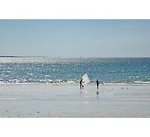 Windsurfers, Cap Coz, France Photographic Print