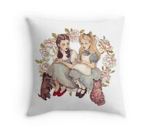 Tea with friends. Throw Pillow
