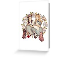 Tea with friends. Greeting Card