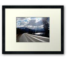 Yellowhead Highway Framed Print