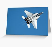 United States Fighter demonstration Greeting Card