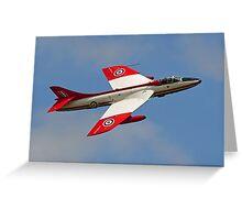 Hawker Hunter FGA.9 XE601 G-ETPS Greeting Card