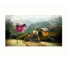 """Sapa""  Illustration M.Konecka for ""Destin de carte postale"" Art Print"