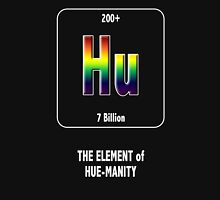 Hu The Element of Hue-Manity Outline Unisex T-Shirt