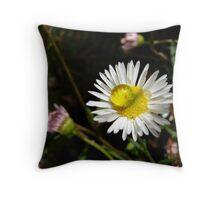 Little White Daisy Throw Pillow