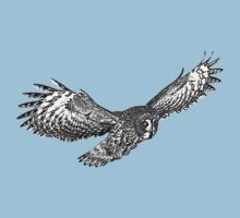 Great Grey Owl in flight Kids Clothes