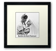 Barbie & Ken Forever Framed Print