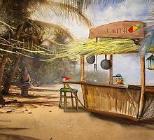 """""""Denpasar""""  Illustration M.Konecka for """"Destin de carte postale"""" by Eric Tchijakoff"""