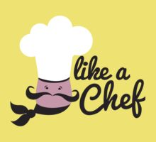 Like a chef incredibly cute cooking design Kids Tee