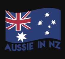 Aussie in NZ with Australian Flag great for a trip to New Zealand Kids Tee