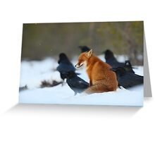 Moment with ravens Greeting Card