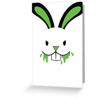 Rabid Rabbit Zombie with Green BLOOD! Greeting Card