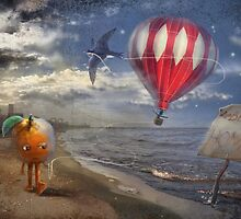 """""""Beirut""""  Illustration M.Konecka for """"Destin de carte postale"""" by Eric Tchijakoff"""