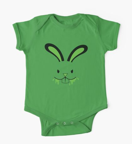 Rabid Rabbit Zombie with Green BLOOD! One Piece - Short Sleeve