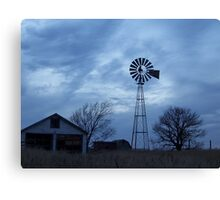Windmill in Blue Canvas Print