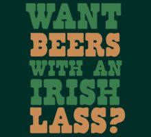 Want beers with an Irish Lass? St Patrick's day design by jazzydevil