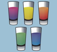 5 Coloured alcohol spirit shooters drinks  by jazzydevil