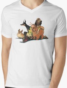 Dogs Dogs Dogs Mens V-Neck T-Shirt