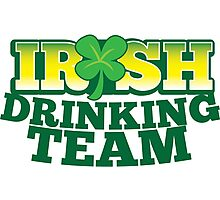IRISH drinking Team with beer pint and Shamrock Photographic Print