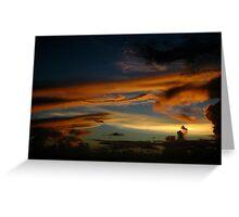 Caribbean Sunset at Sea Greeting Card