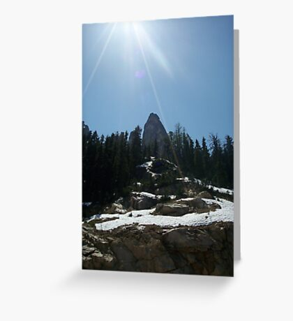 High on the mountain top. Greeting Card