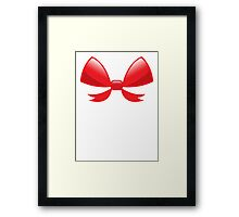 Cute little red BOW Framed Print