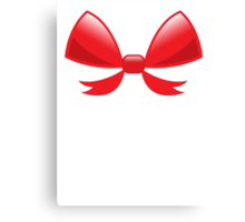 Cute little red BOW Canvas Print