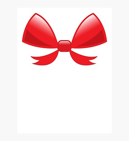 Cute little red BOW Photographic Print