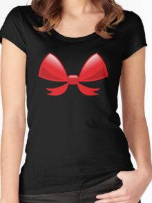 Cute little red BOW Women's Fitted Scoop T-Shirt