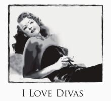 i love divas- Rita Hayworth by Juana Luján