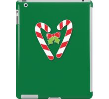 CANDY CANES with bow and cute holly Christmas iPad Case/Skin